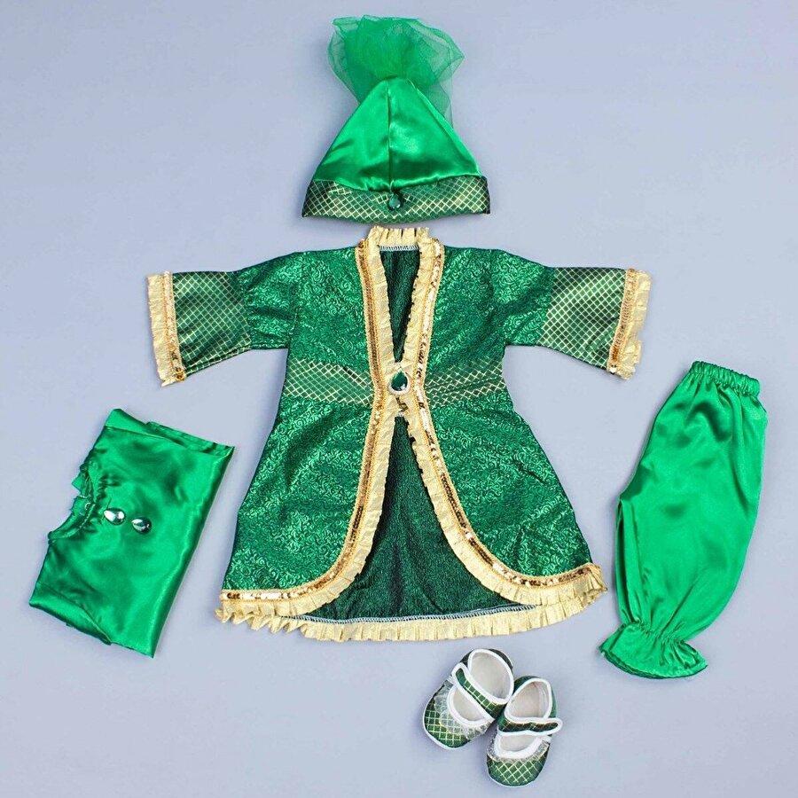 Modakids Yeşil 5 li Kız Bebek Hürrem Takım