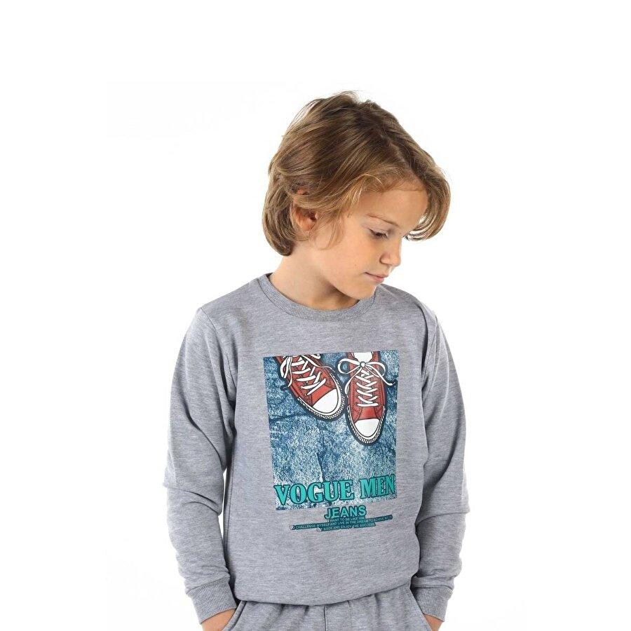 E.R.D Kids Gri Mevsimlik Erkek Çocuk Sweatshirt
