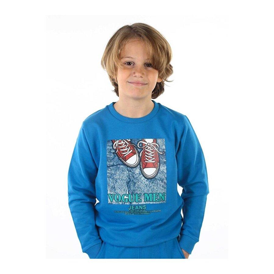 E.R.D Kids Mavi Mevsimlik Erkek Çocuk Sweatshirt
