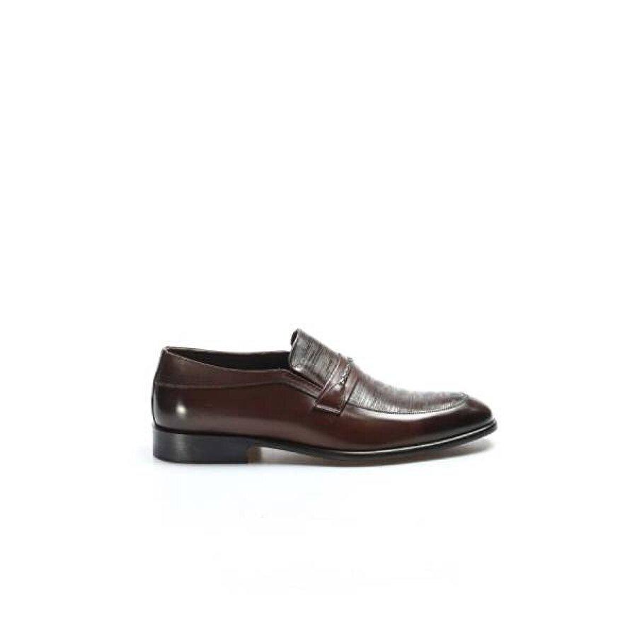 Fast Step Hakiki Deri Kösele Erkek Klasik Ayakkabı 893MA0216