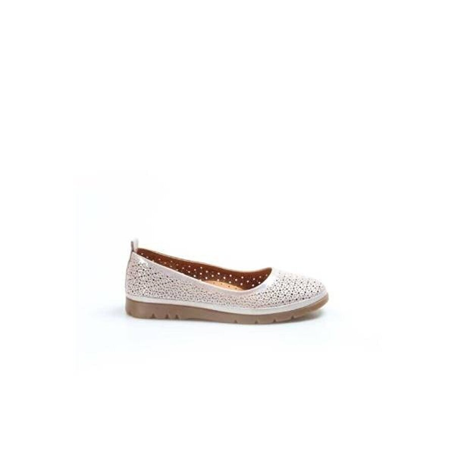 Fast Step Hakiki Deri Kadın Babet Ayakkabı 863ZA517
