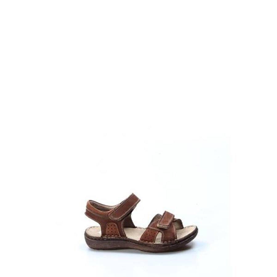 Fast Step Hakiki Deri Erkek Çocuk Klasik Sandalet 896FA7029