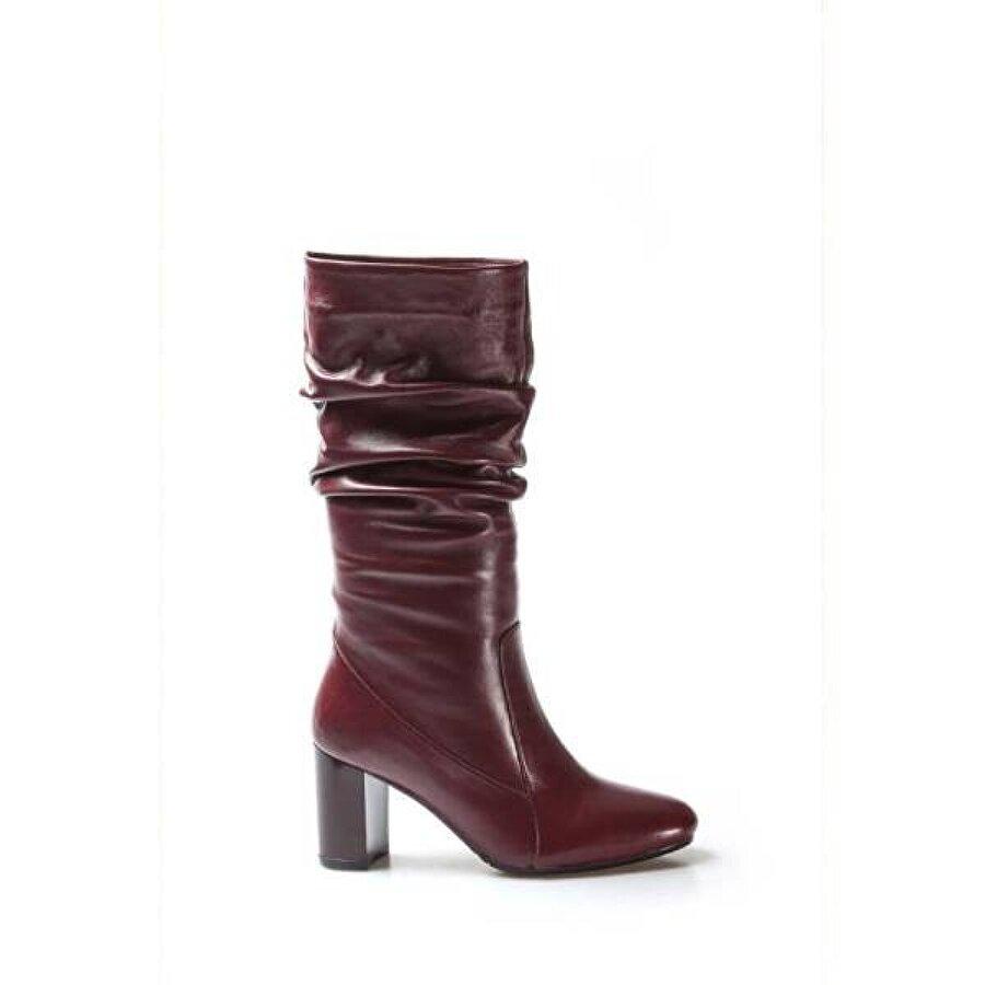 Fast Step Hakiki Deri Kadın Yüksek Topuk Çizme 064SZA602