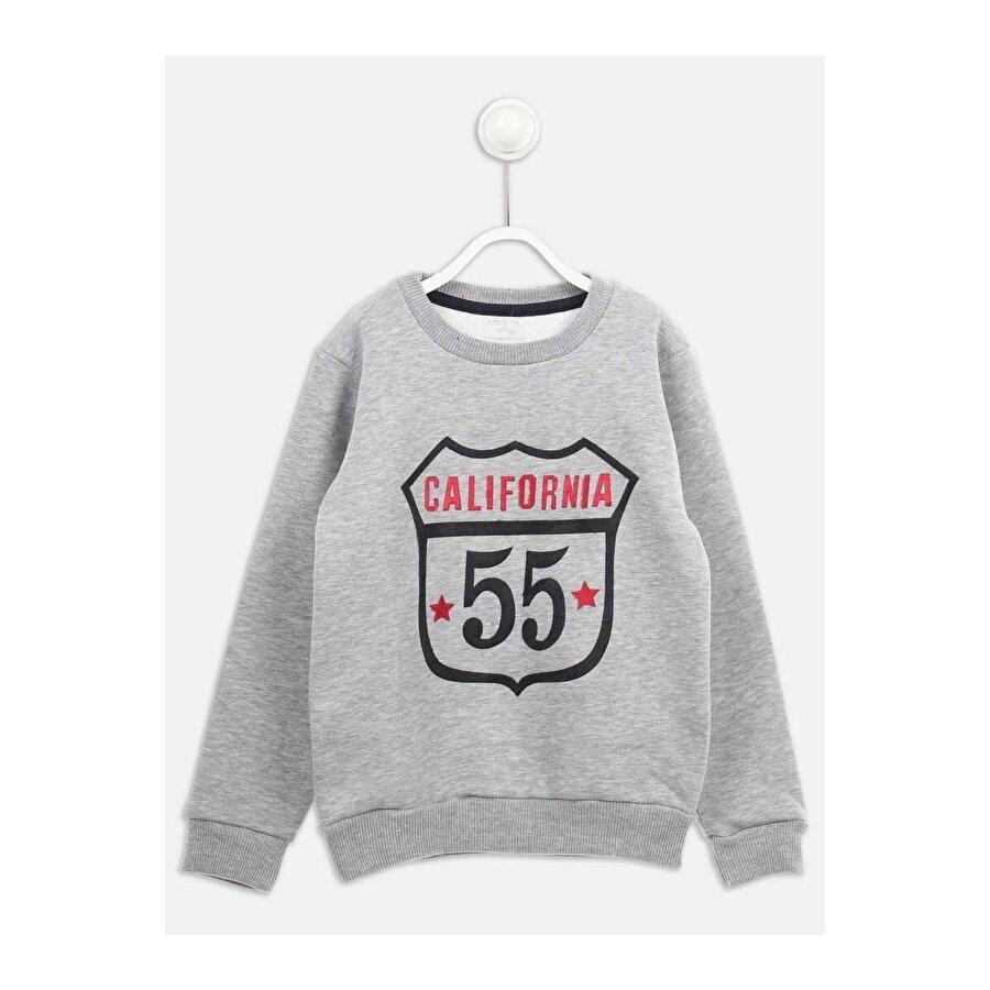E.R.D Kids Gri Kışlık Erkek Çocuk Sweatshirt