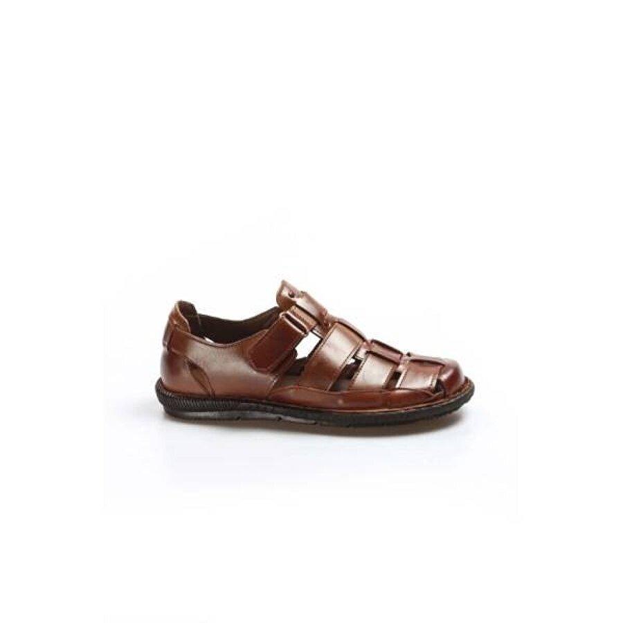 Fast Step Hakiki Deri Erkek Klasik Sandalet 927MA021