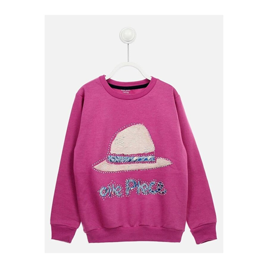 E.R.D Kids Lila Mevsimlik Kız Çocuk Sweatshirt