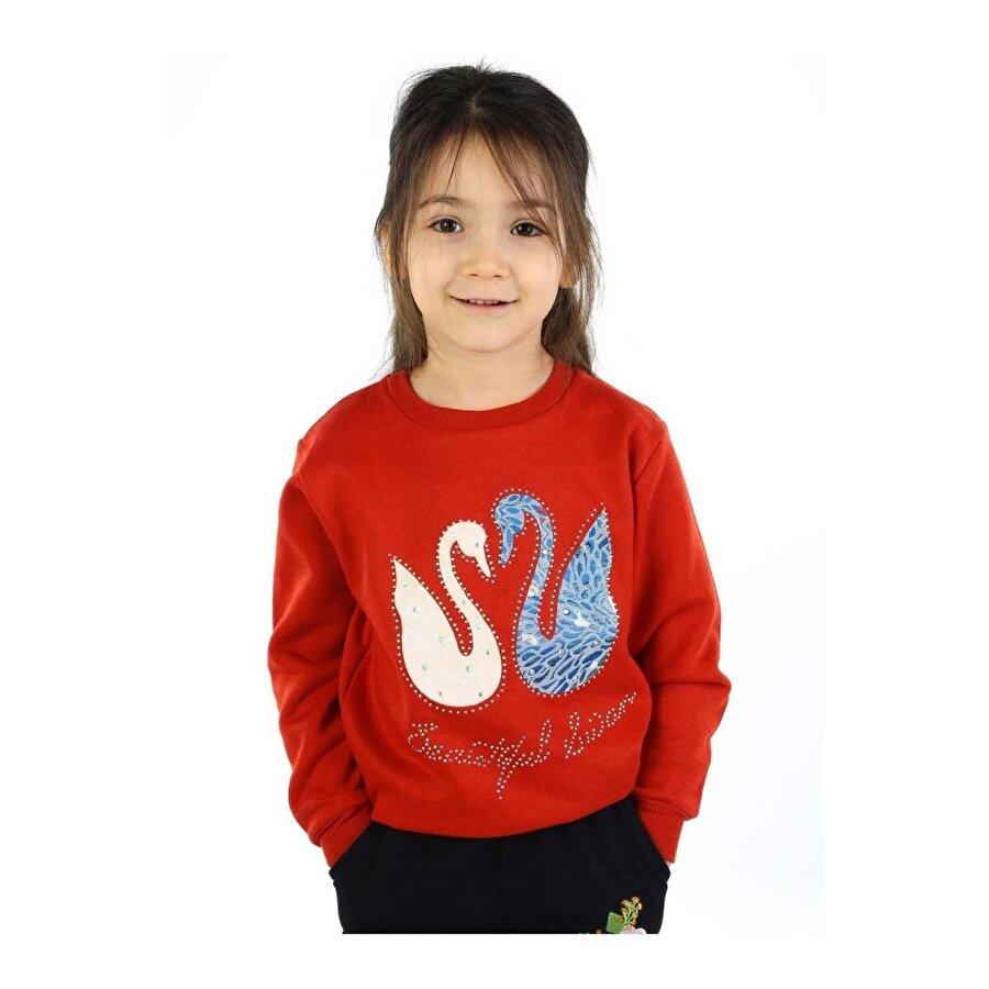 E.R.D Kids Kırmızı Mevsimlik Kız Çocuk Sweatshirt