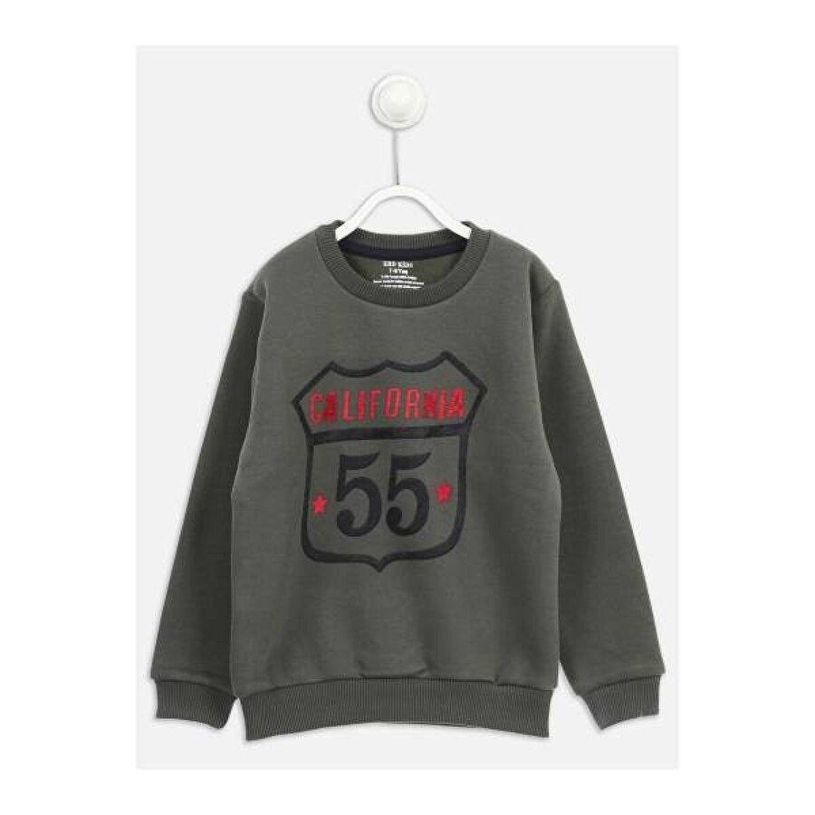 E.R.D Kids Haki Kışlık Erkek Çocuk Sweatshirt