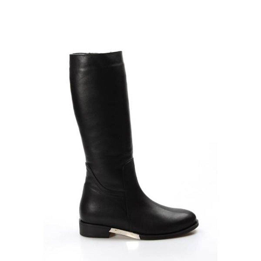 Fast Step Hakiki Deri Kürklü Kadın Klasik Çizme 064KZA1001