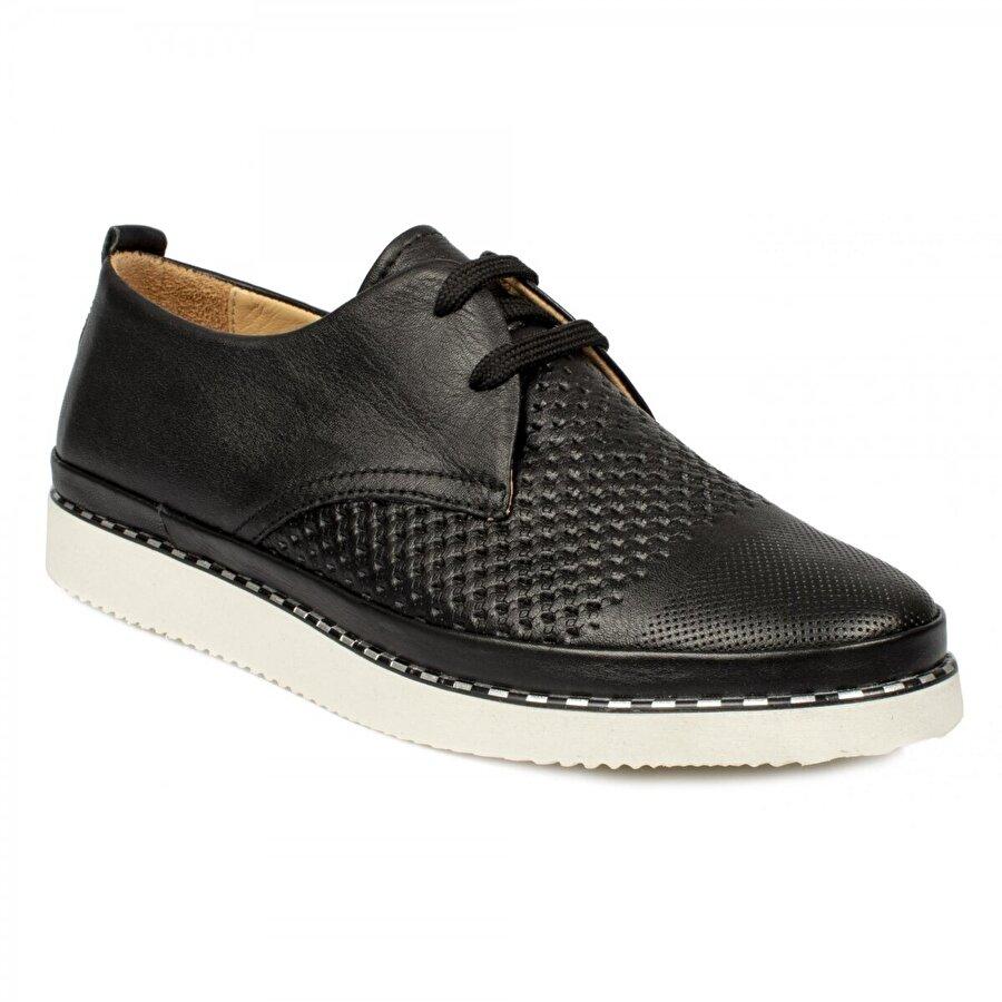 Stella 20234 Casual Günlük Bağlı Siyah Kadın Ayakkabı