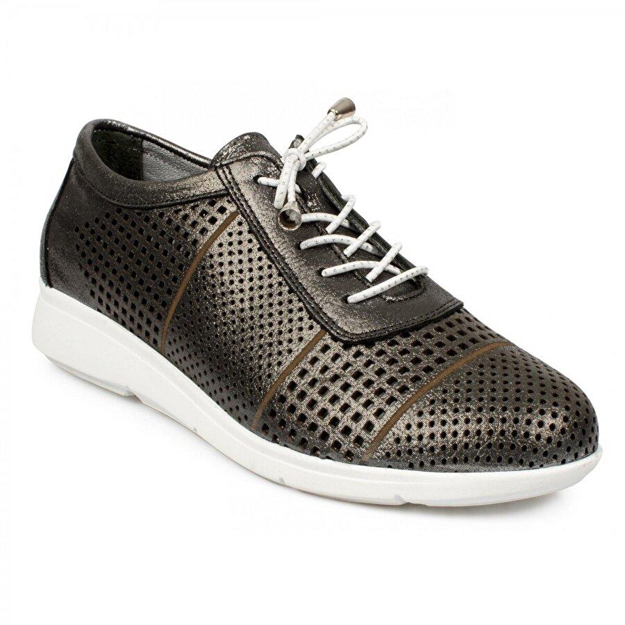 Stella 20256 Casual Günlük Bağlı Siyah Kadın Ayakkabı