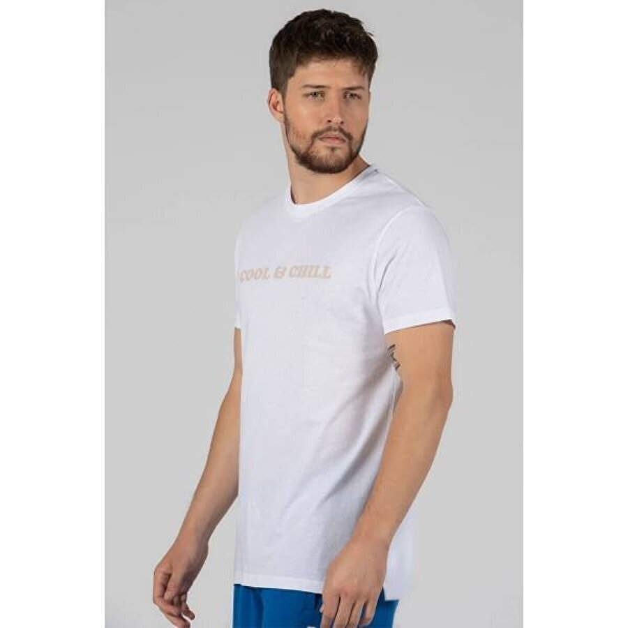 Cool Bear COOL & CHILL BASIC OPTİK BEYAZ T-SHIRT
