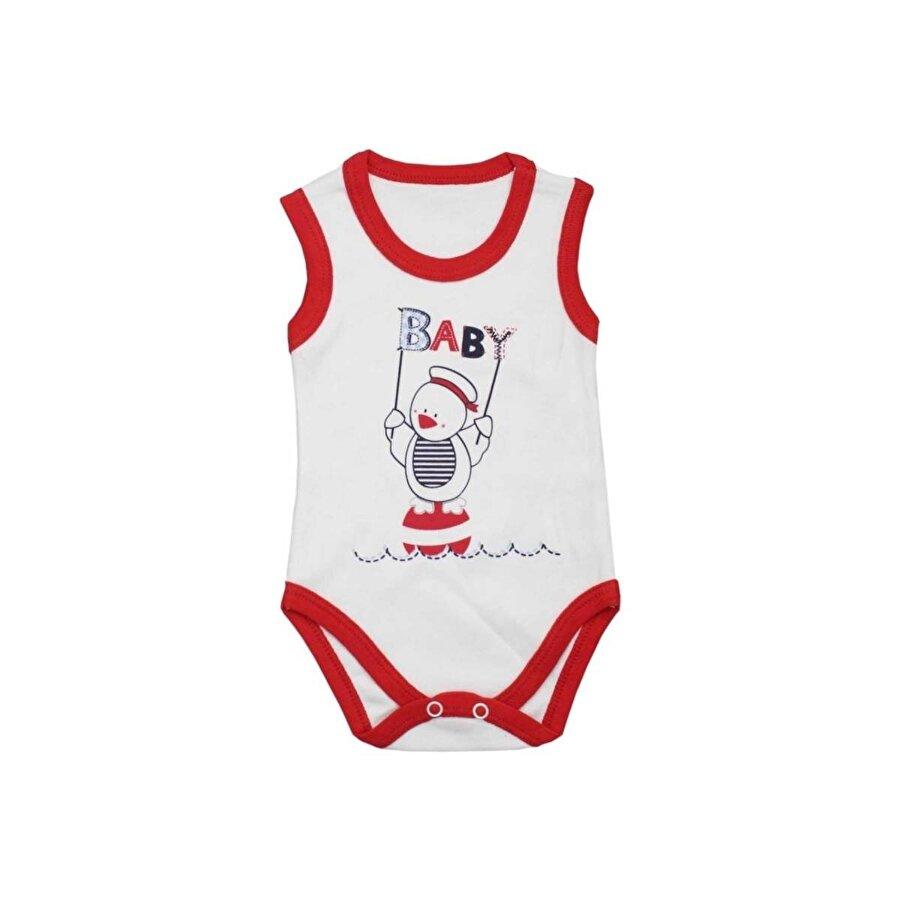 Tiki Kids Modakids Unisex Bebek Baby Baskılı Çıtçıtlı Badi