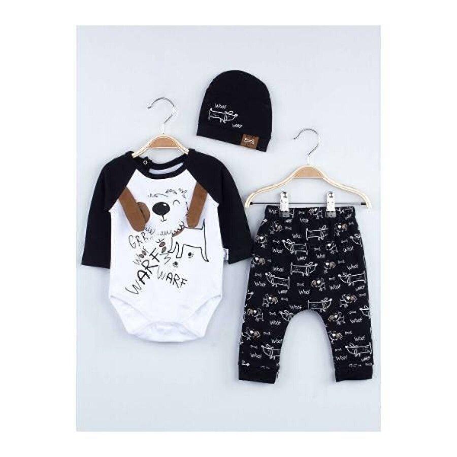 Miniworld Siyah Badili Erkek Bebek 3 lü Takım