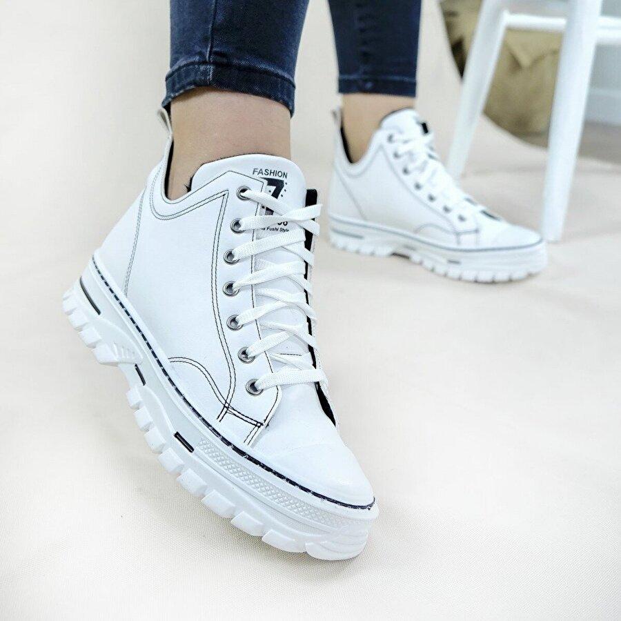 Hayati Arman Kadın İçi Kürklü Bağcıklı Spor Ayakkabı & Sneaker