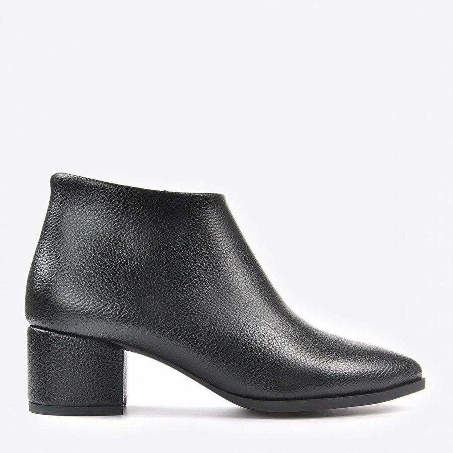 Vizon Ayakkabı Kadın  Siyah Cilt Baskı Bot VZN20-001K