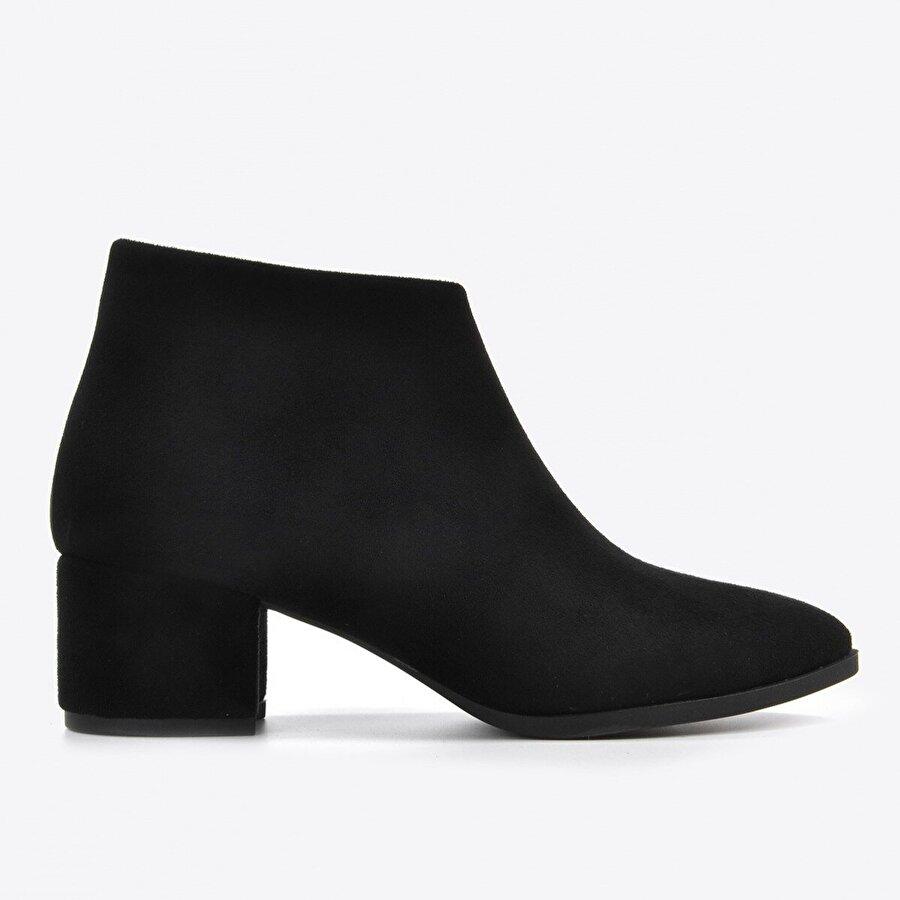 Vizon Ayakkabı Kadın  Siyah Süet Bot VZN20-001K