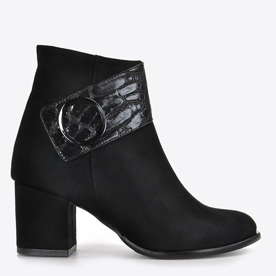 Vizon Ayakkabı Kadın  Siyah Süet Bot VZN20-017K