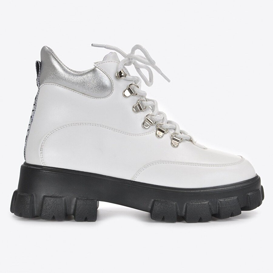 Vizon Ayakkabı Kadın  Siyah Beyaz Bot VZN20-018K