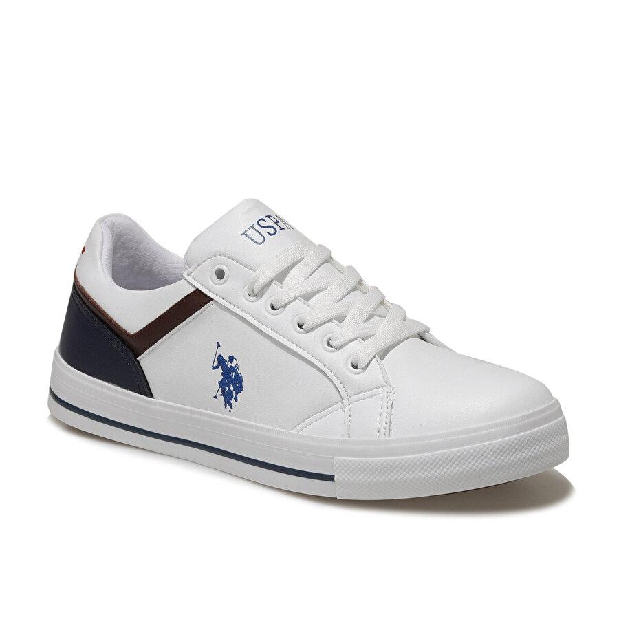 U.S. Polo Assn. PONK Beyaz Erkek Sneaker Ayakkabı