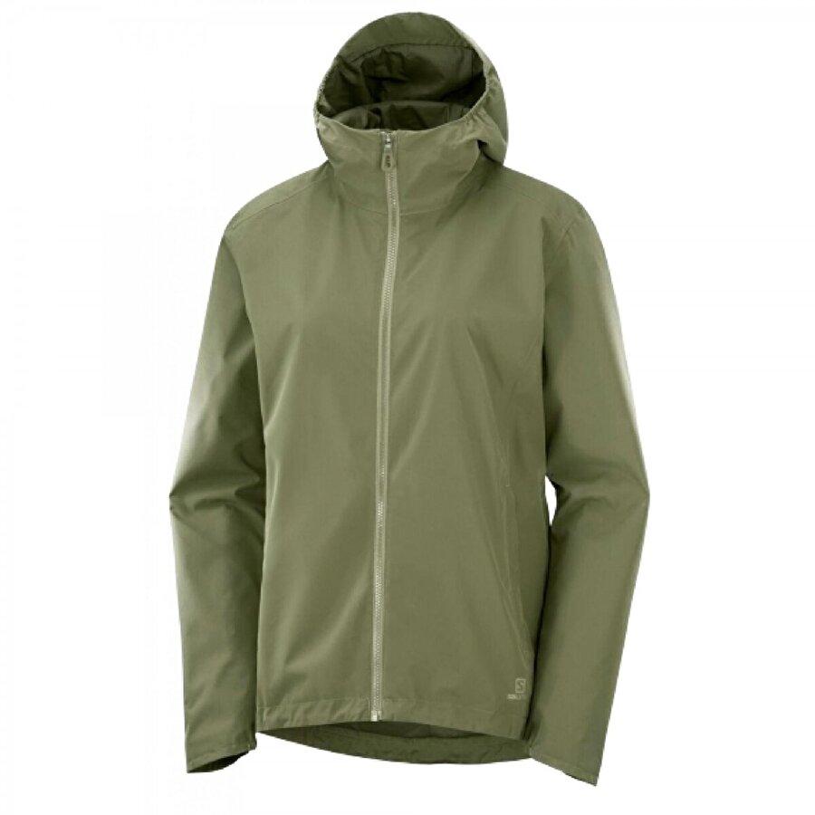 Salomon Lc1384300 Comet Wp Jacket W Yeşil Kadın Tekstil
