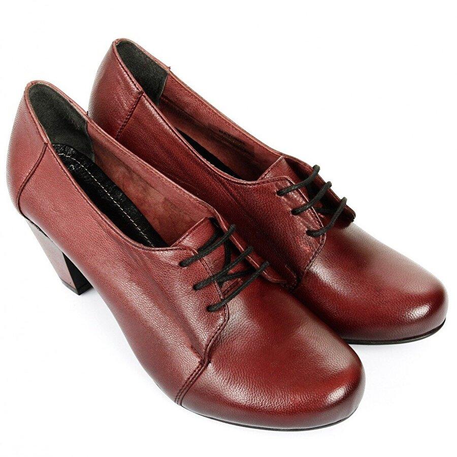 Gön Hakiki Deri Kadın Topuklu Ayakkabı 21037