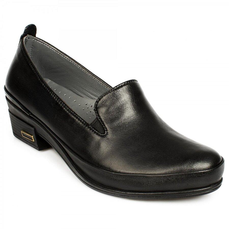 Stella 21100 Z Deri Günlük Siyah Kadın Ayakkabı