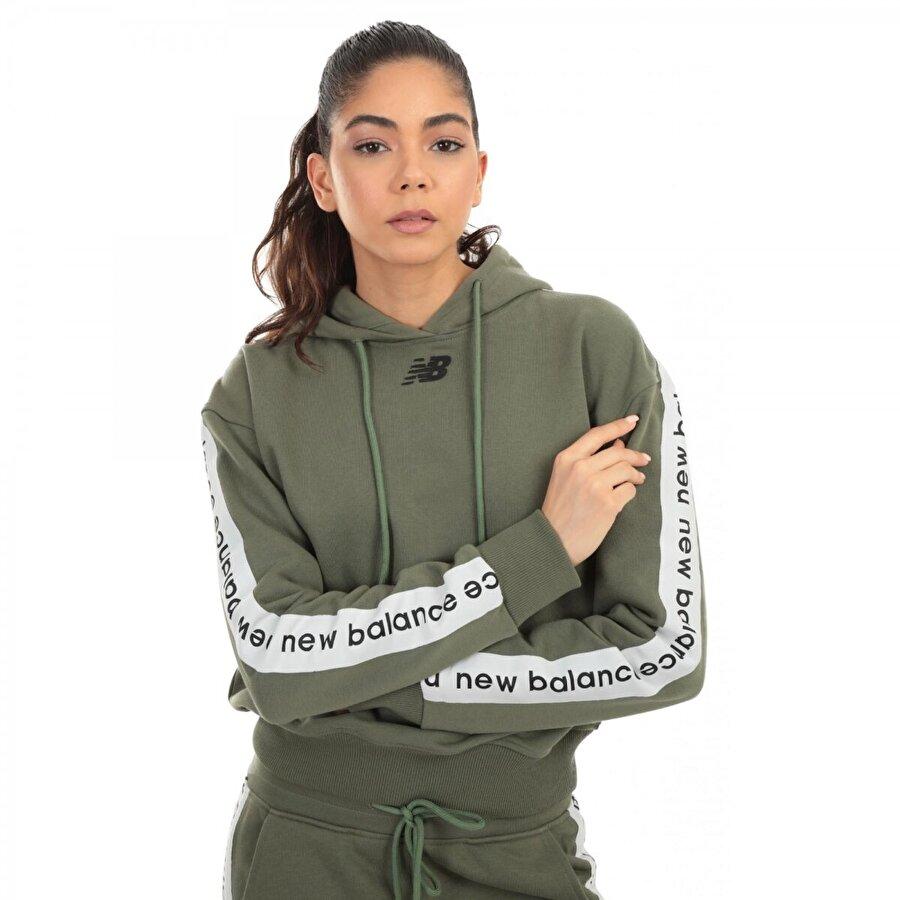 New balance Wpj005 Nb Team Hoodie Yeşil Kadın Giyim