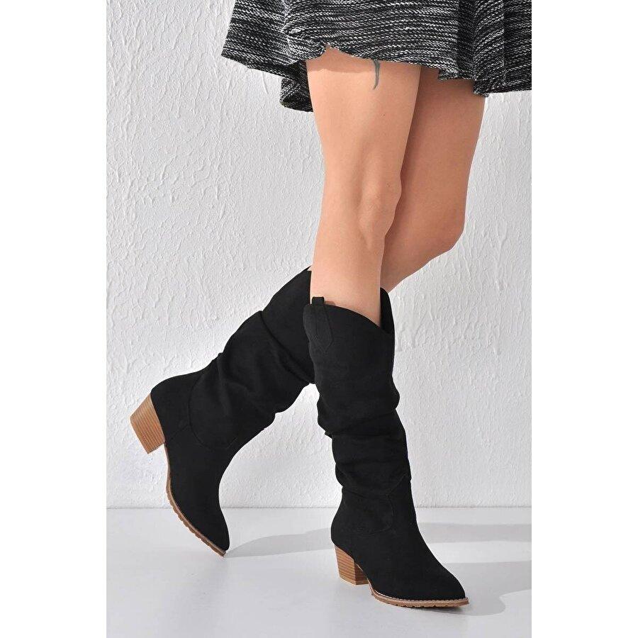 Vizon Ayakkabı Kadın  Siyah Bot VZN20-021K