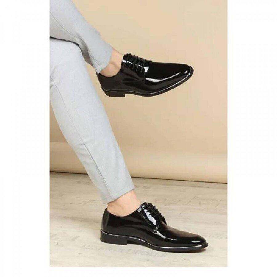 Fast Step Hakiki Deri Kösele Erkek Klasik Ayakkabı 237MA159