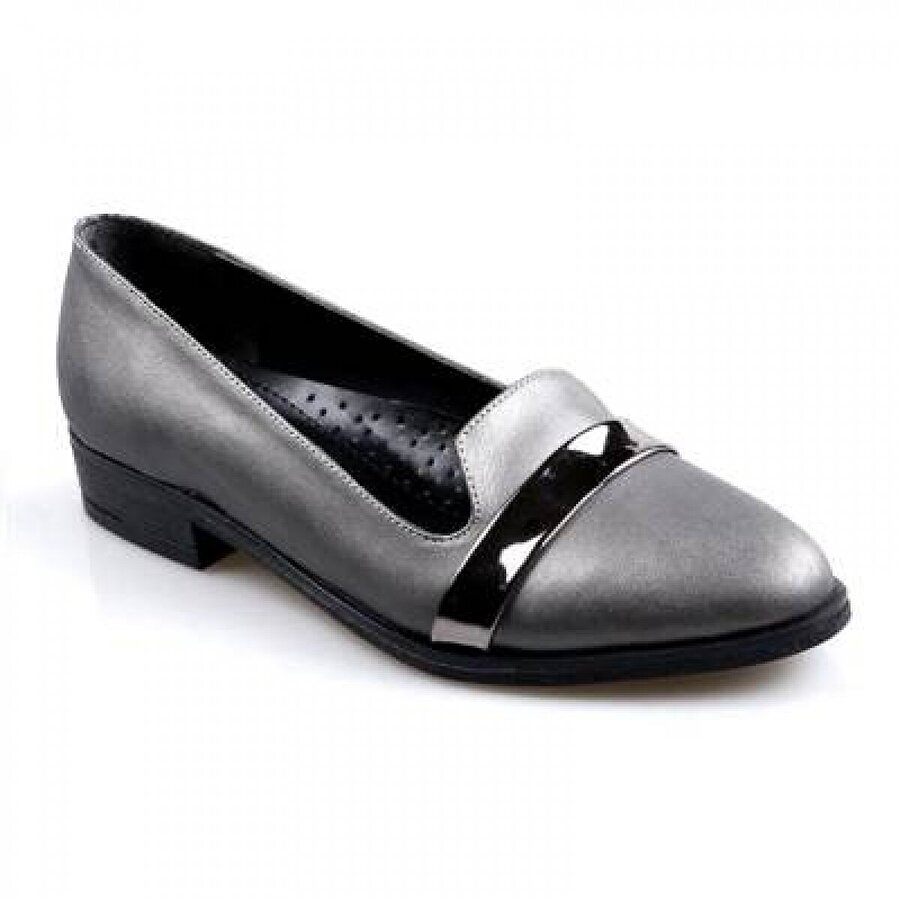 Oc Ortapedik Platin Bayan Günlük Babet Ayakkabı