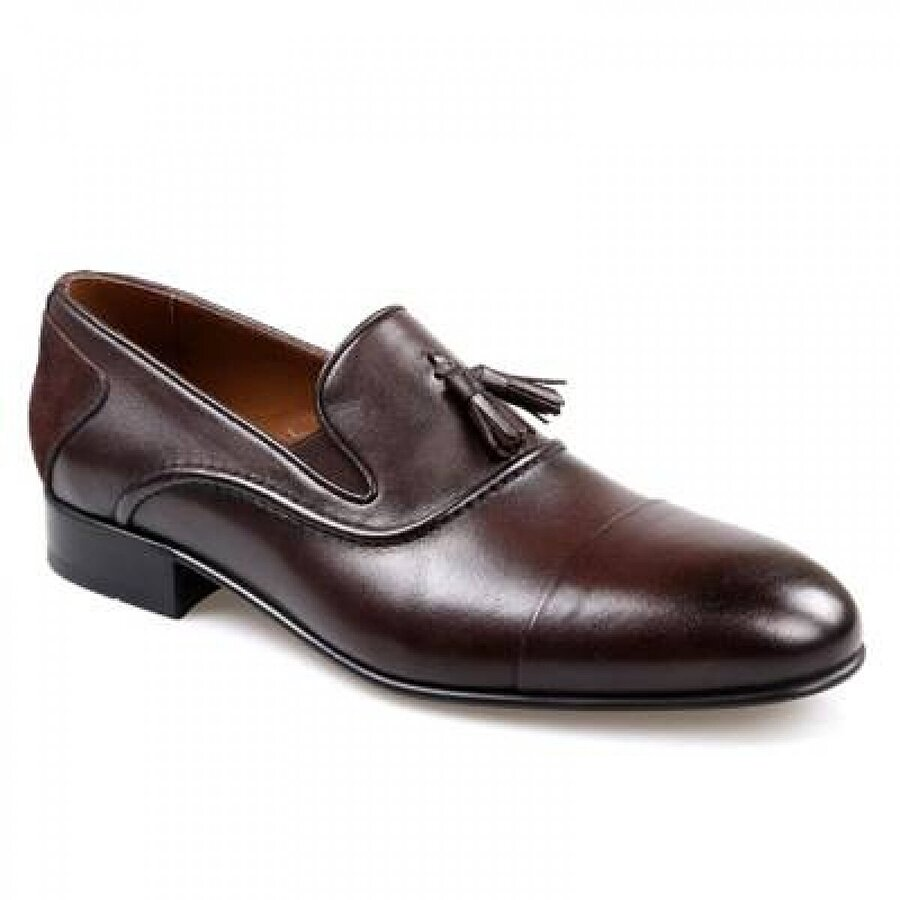 TEK YILDIZ Tek Yıldız Erkek Deri Kahve Klasik Püsküllü Ayakkabı