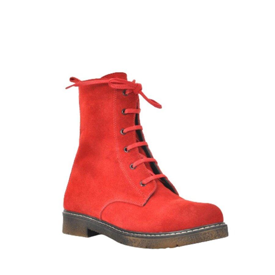 Vizon Ayakkabı Kadın  Kırmızı Nubuk Bot VZN20-036K