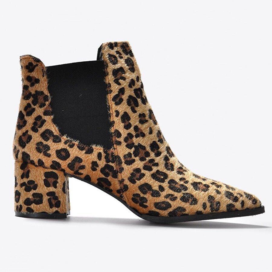Vizon Ayakkabı Kadın  Leopar Bot VZN20-046K