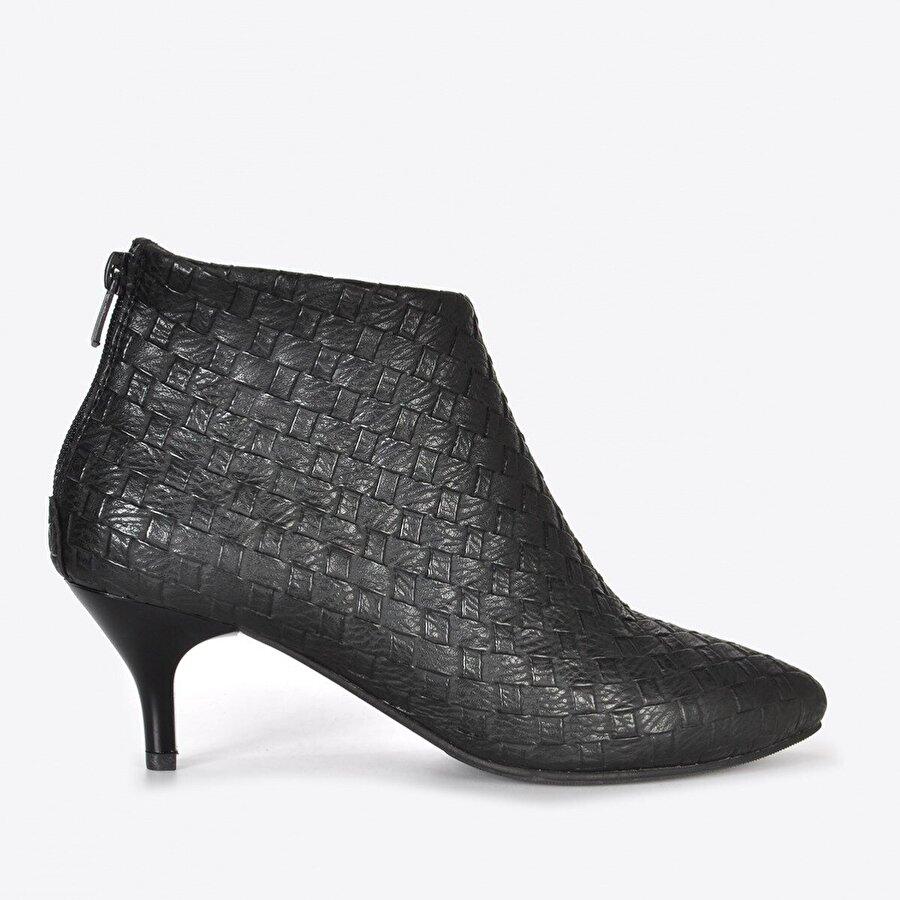 Vizon Ayakkabı Kadın  Siyah Örgü Bot VZN20-063K