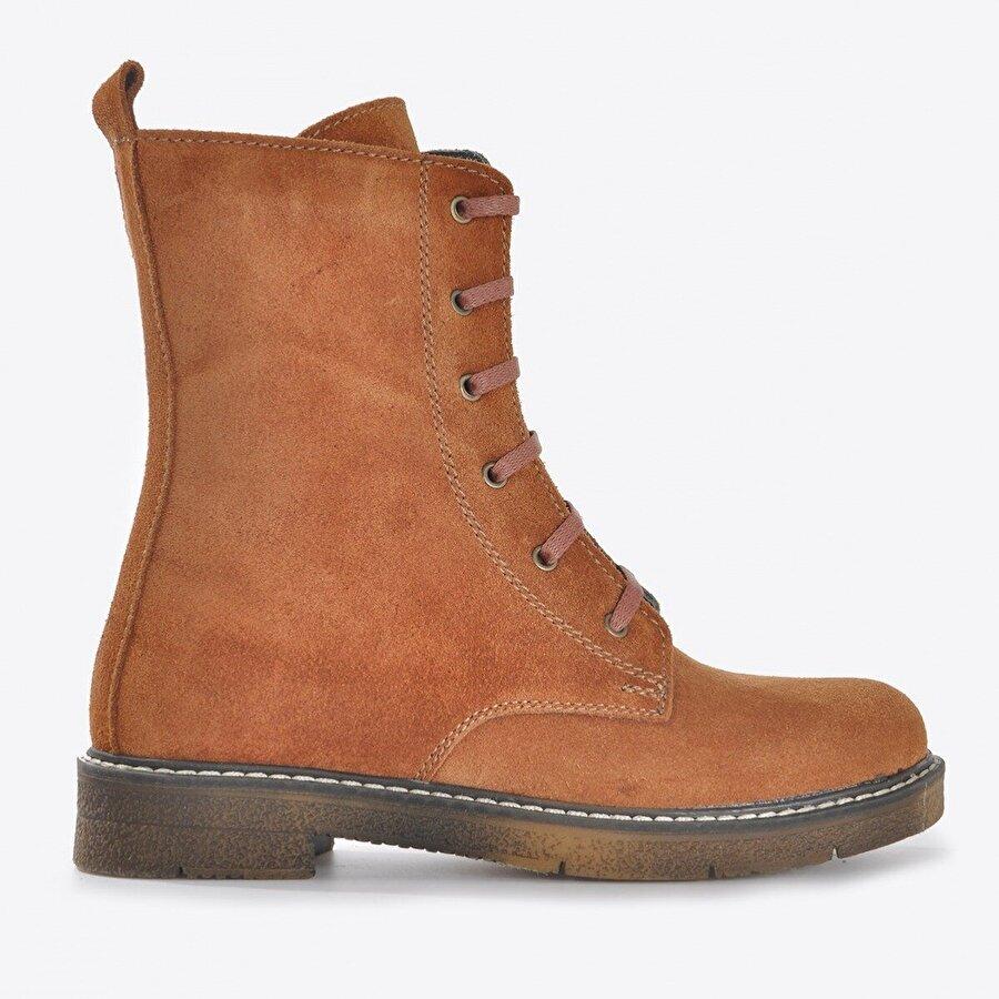 Vizon Ayakkabı Kadın  Taba Nubuk Bot VZN20-036K