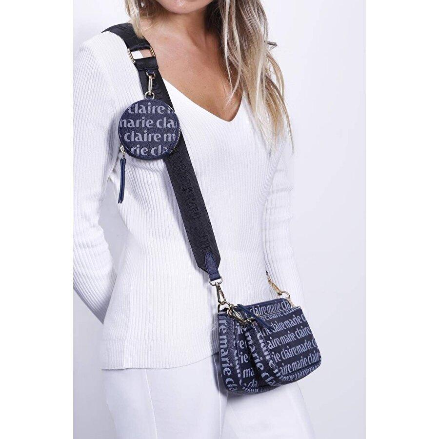Marie Claire Lacivert Kadın Bel Çantası Perla MC212105014
