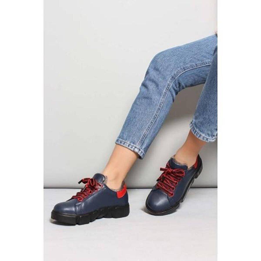 Fast Step Hakiki Deri Kürklü Kadın Casual Ayakkabı 827KZA8015