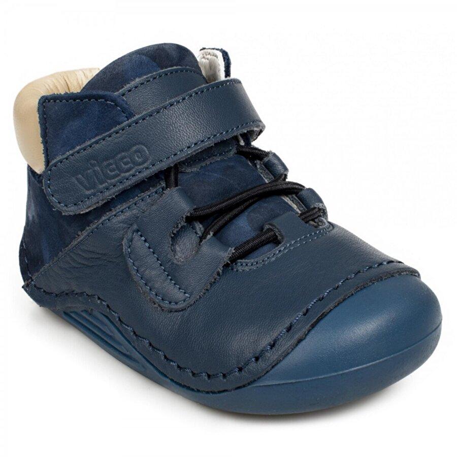 VICCO 918.e19K.019 İlk Adım Deri Mavi Çocuk  Sneaker Ayakkabı