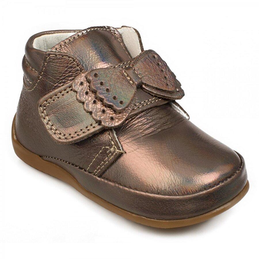VICCO 918.e20K.001 İlk Adım Deri Bronz Çocuk  Sneaker Ayakkabı
