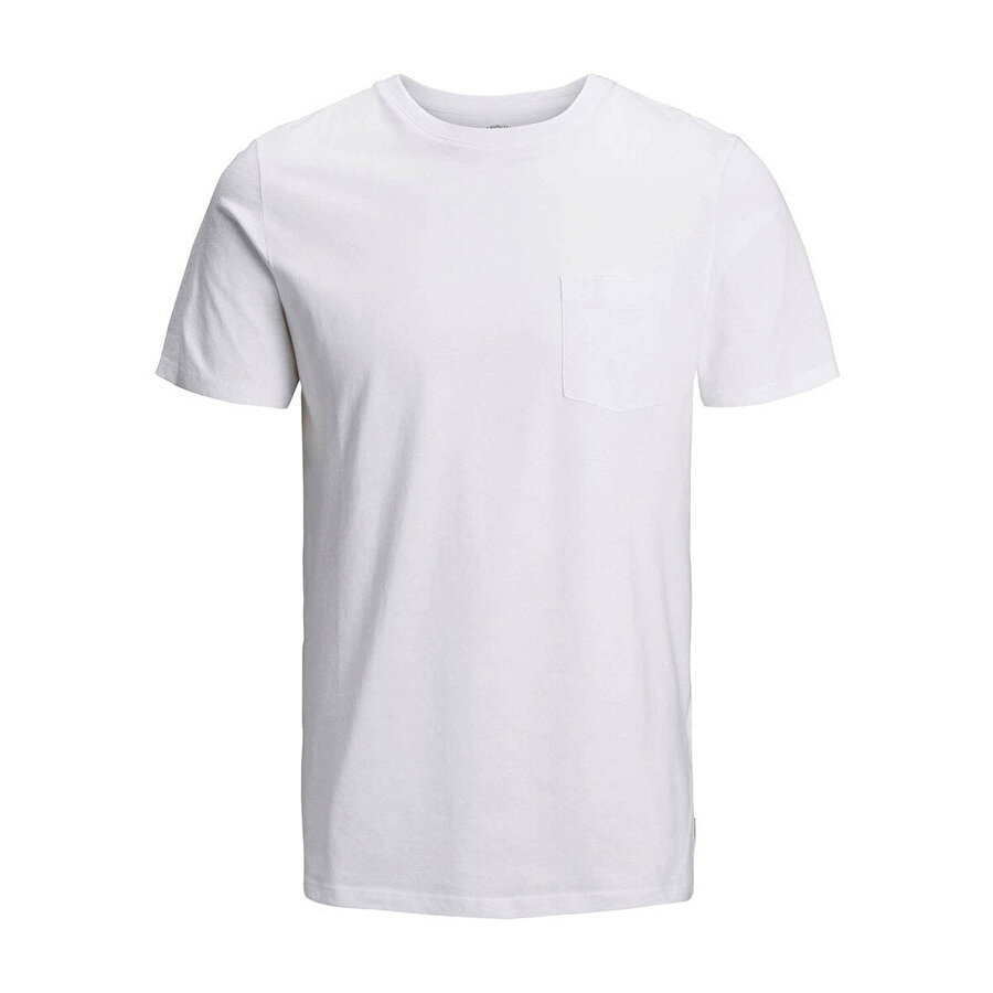 Jack & Jones JJEPOCKET TEE SS O-NECK N Beyaz Erkek T-Shirt