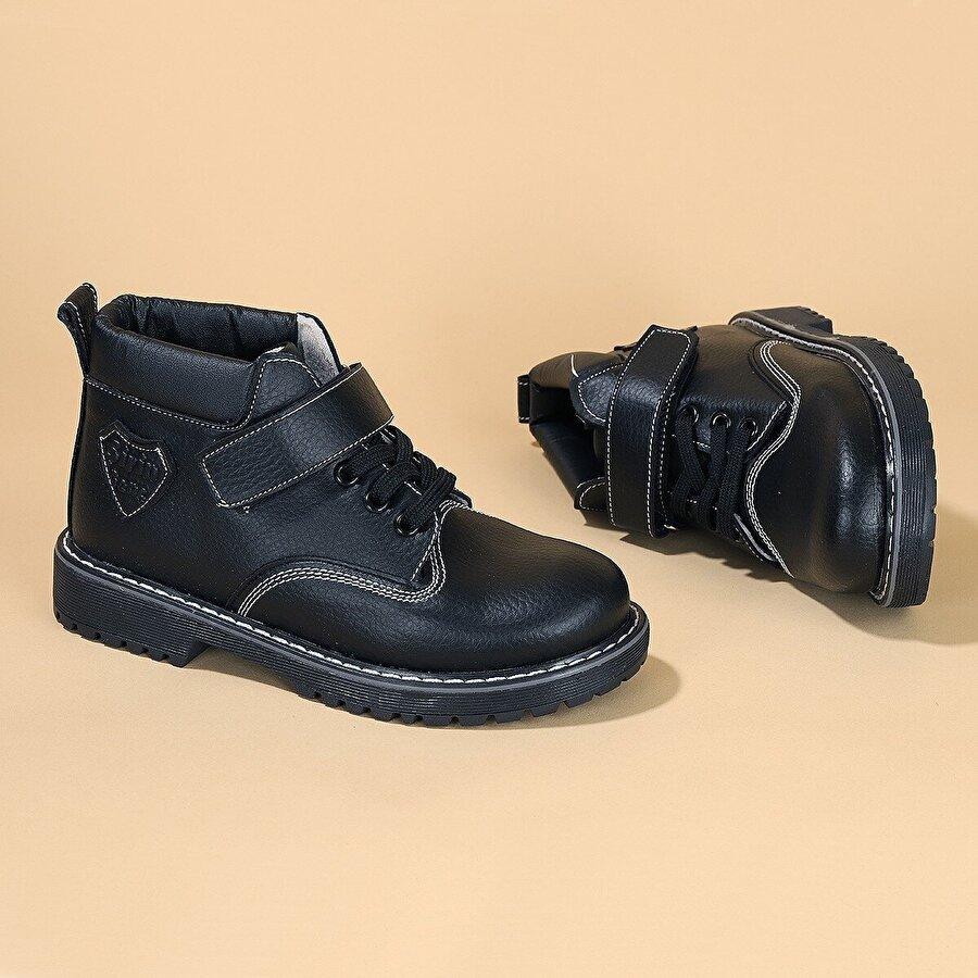 Kiko Kids Kiko Şb 1513 Termo Taban Cırtlı Erkek Çocuk Bot Ayakkabı SİYAH