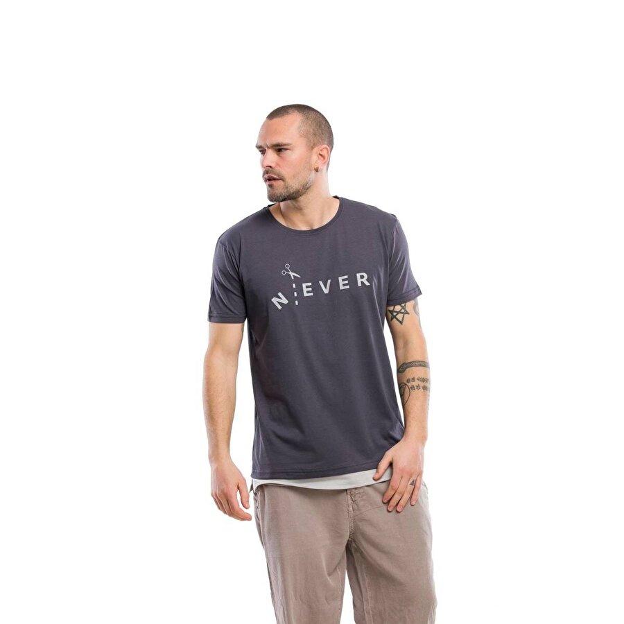 Kevin Erkek T10 Antrasit Tişört
