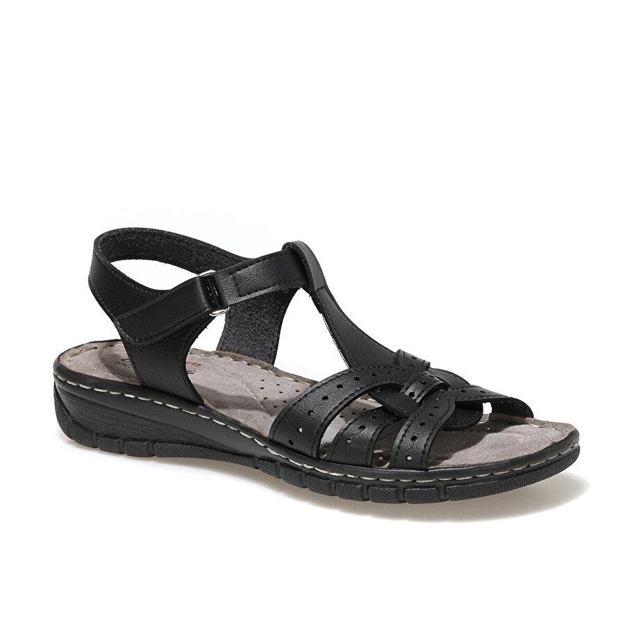 Polaris 91.158589.Z1FX Siyah Kadın Sandalet