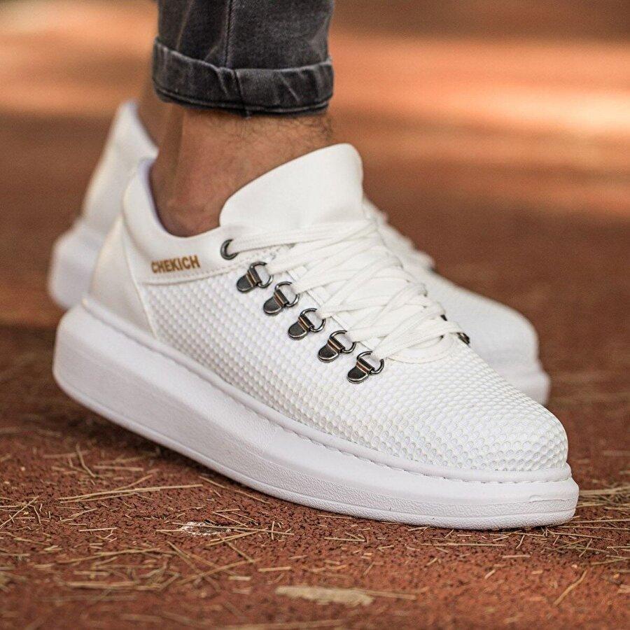 Chekich CH021 YBT Erkek  Sneaker Ayakkabı BEYAZ