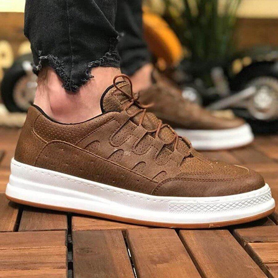 Chekich CH040 BT Erkek  Sneaker Ayakkabı TABA