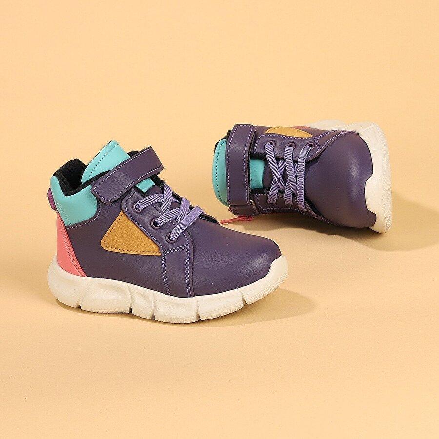 Kiko Kids Kiko Hira Günlük Cırtlı Kız/Erkek Çocuk Spor Bot Ayakkabı MOR