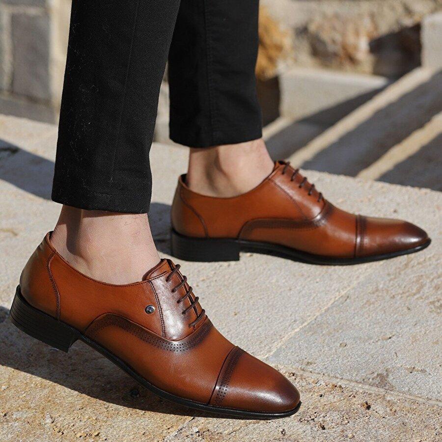 Ayakland P546 %100 Deri Klasik Erkek Ayakkabı TABA