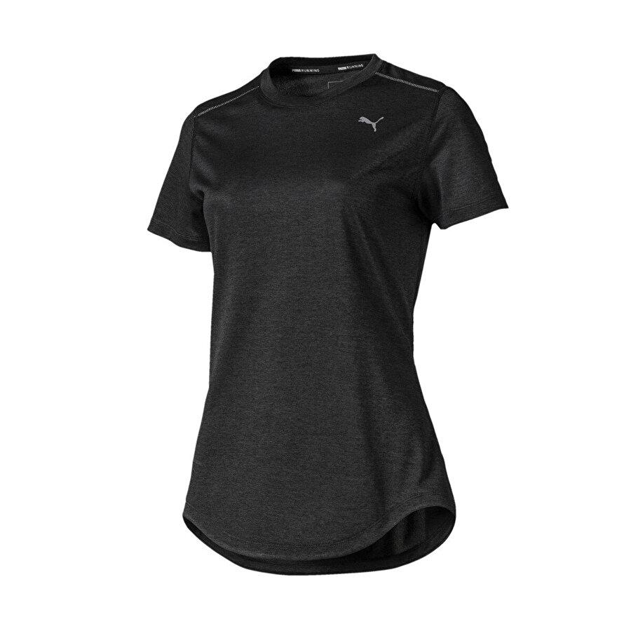 Puma IGNITE HEATHER SS TEE Siyah Kadın T-Shirt