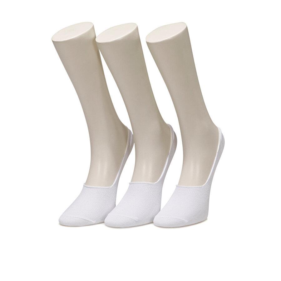 Lumberjack CO6 DELIAH BABET 3LU Beyaz Kadın Çorap